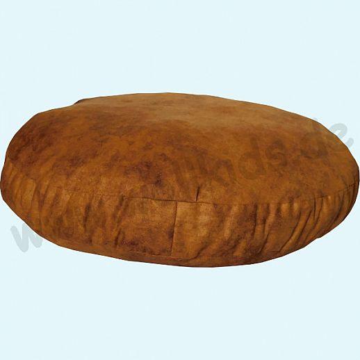 Wollkids großes, flaches Sitzkissen Shadow zimt - Wohnzimmer - Meditationskissen - 60cm