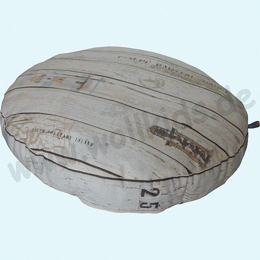 Wollkids großes, flaches Sitzkissen Schiffsplanke - Wohnzimmer - Meditationskissen - 60cm