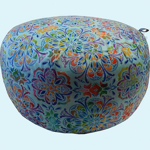 Wollkids Sitzkissen Mandala türkis - Sitzhocker - Jugendzimmer - Meditationskissen - 38cm Durchmessser