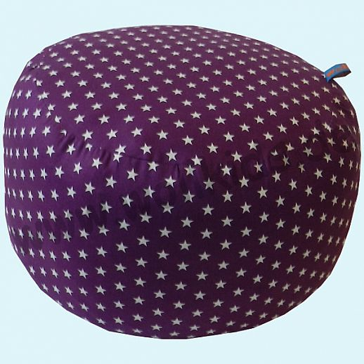 Wollkids Sitzkissen Sterne lila - Sitzhocker - Kinderzimmer - Meditationskissen