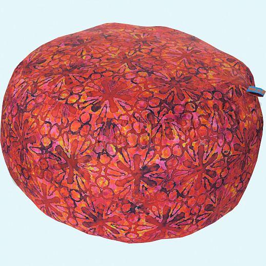 Wollkids Sitzkissen Tropicalia Blumen Batik rot - Hocker - Jugendzimmer - Meditationskissen groß