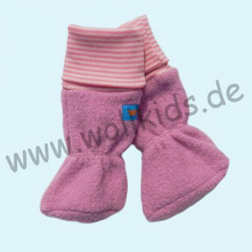 Baby Tragestiefel altrosa rosa Ringel Schurwolle Walk muckelig warme Füße
