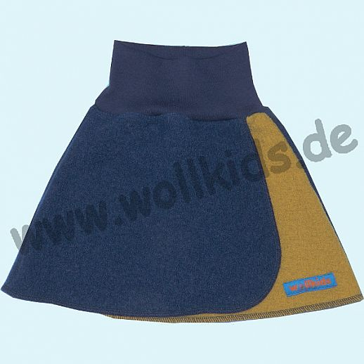 NEU:Wunderschöner Walk-Rock navy curry - Rock in Wickeloptik - reine Schurwolle