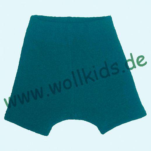 WOLLKIDS Mini-Shorts Bermuda Hose in dunkelpetrol Walk 100% Schurwolle ab 110-116