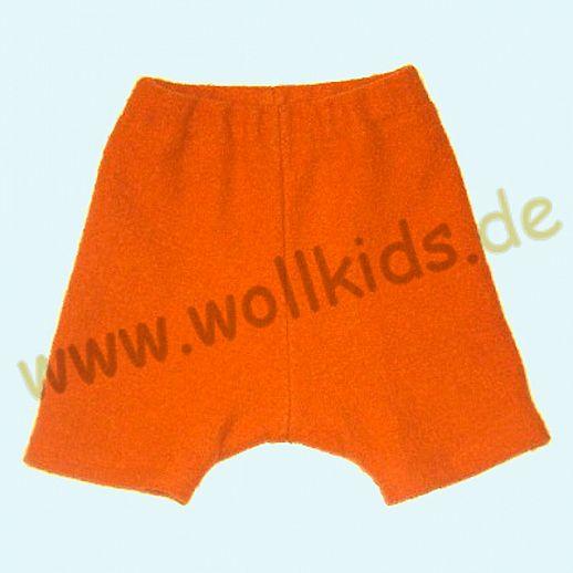 WOLLKIDS Mini-Shorts Bermuda Hose in hellorange Walk 100% Schurwolle ab 110-116