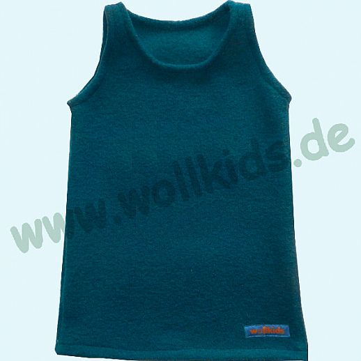 NEUER SCHNITT: Walk-Kleid dunkelpetrol - wunderschön - Reine Schurwolle
