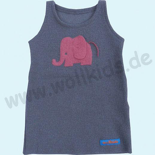 NEUER SCHNITT: Walk-Kleid Elefant hellgrau - zuckersüß - Reine Schurwolle