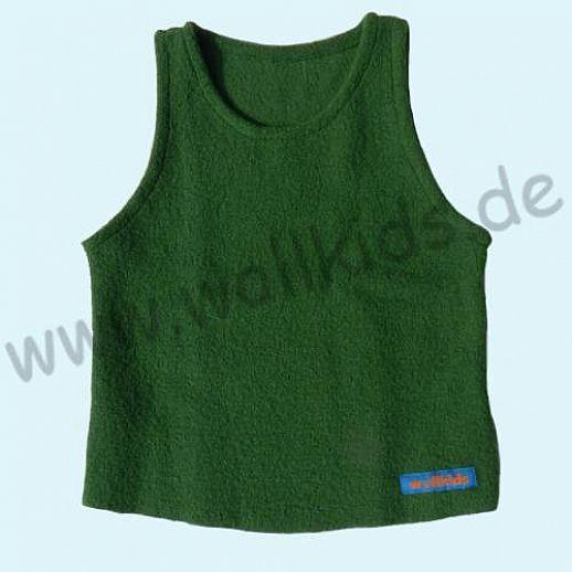 Neuer Schnitt: Öko-Walk Schlupfweste Wollwalk gras grün - Pullunder