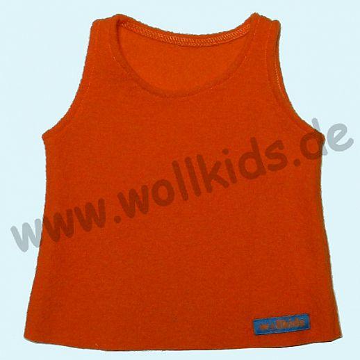 Neuer Schnitt: Öko-Walk Schlupfweste Wollwalk orange - Pullunder