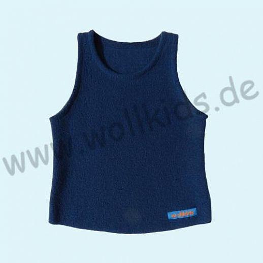 Neuer Schnitt: Öko-Walk Schlupfweste Wollwalk navy - Pullunder