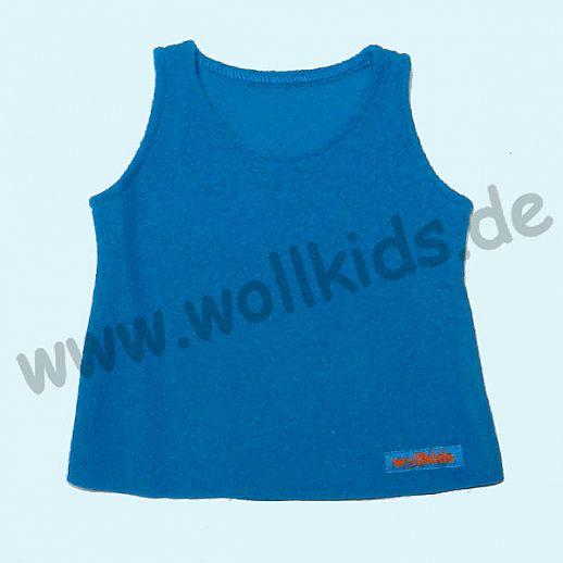 Neuer Schnitt: Öko-Walk Schlupfweste Wollwalk türkis - Pullunder
