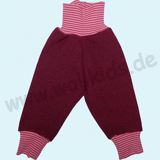 Wohlfühlhose - Walkhose mit Nabelbund - beere - Yogabund beere-rosa Ringel