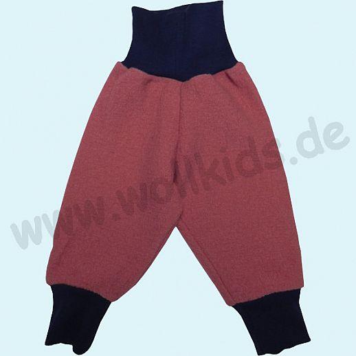 Wohlfühlhose - Walkhose mit Nabelbund - altrosa  - Yogabund grau