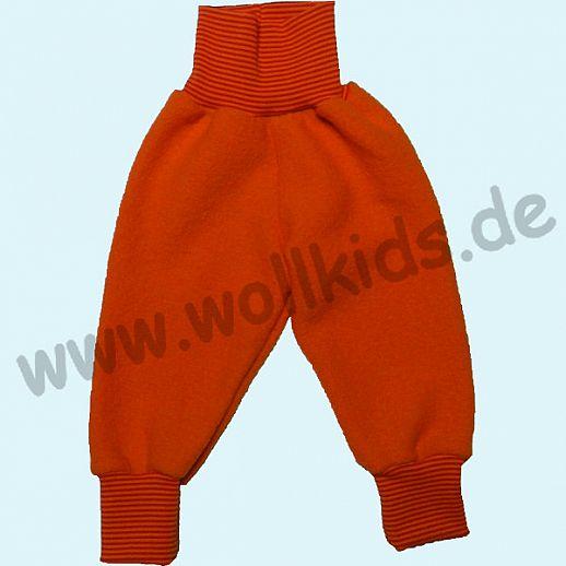 Wohlfühlhose - Walkhose mit Nabelbund - orange - Yogabund rot-orange Ringel
