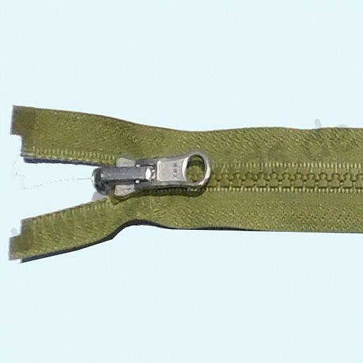 NEU: YKK Wende-Reißverschluß - ideal für Wende-Jacken - teilbar - super Qualität - oliv
