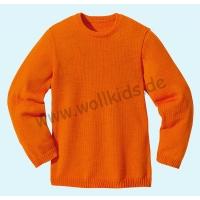 79efd9fb3f Disana - Pullover - Kinder Strickpullover Pullover Pulli uni - 100%  kbT-Schurwolle - Wollkids - natürliche Kleidung für Baby, Kind, Mama & Papa